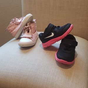 Nike Lunar Running shoes size 5c and old navy pink